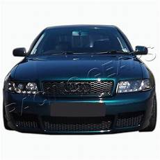rs4 style abs black front upper hood bumper grille grill fit 96 01 audi a4 s4 b5 ebay