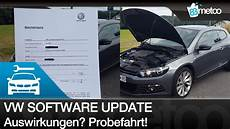 Vw Software Update Auswirkung Mein Feedback Vw Scirocco