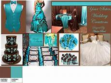 turquoise and chocolate brown pantone wedding styleboard the dessy group