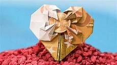 geldscheine falten hochzeit wedding money gift out of a banknote origami how