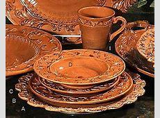 Tuscan Horchow Paprika Burnt Orange Dinnerware 16 pc. Set
