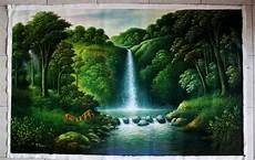 Gambar Lukisan Pemandangan Alam Indah Pemandangan