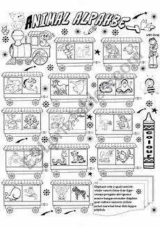animal letter worksheets 13939 animal alphabet esl worksheet by angelamoreyra