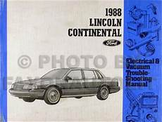 service and repair manuals 1988 lincoln continental mark vii electronic toll collection 1988 lincoln continental repair shop manual original