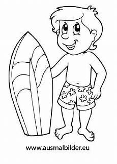 Malvorlagen Kinder Urlaub Ausmalbilder Mit Surfbrett Urlaub Malvorlagen