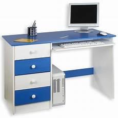 Bureau Enfant Malte 4 Tiroirs Lasur 233 Blanc Bleu Achat