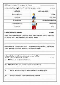 worksheet software for class 5 notes