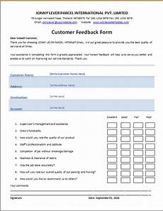 customer s feedback form word excel templates