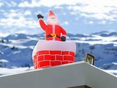 infactory aufblasbarer weihnachtsmann mit schornstein