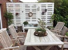 Garten Sichtschutz Aus Paletten Schutzwand