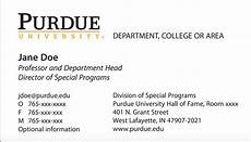 business card template for college students new business card template now purdue news