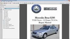 car repair manuals online pdf 2005 mercedes benz slk class windshield wipe control mercedes benz s500 w220 manual de taller workshop re car repair manuals