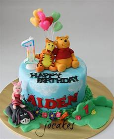 Winnie The Pooh And Friends Cake For 1 Year Boy Aiden