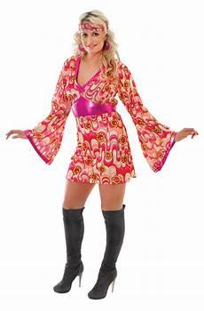 flower power 70er flower power fancy dress costume 70 s hippy pink
