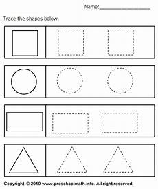 tracing geometric shapes worksheet