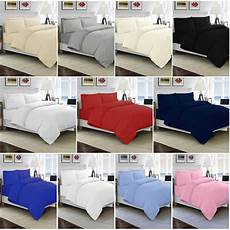 100 cotton duvet quilt cover single double king size bed sheets ebay