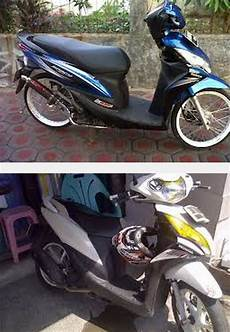 Modifikasi Helm Honda by Modifikasi Motor Honda Spacy Thailook Velg Jari Jari Helm