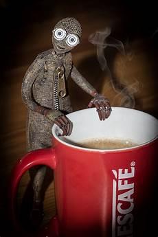 guten morgen kaffee ist fertig foto bild