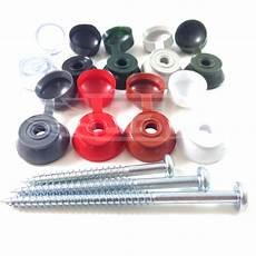 black clear grey caps screws corrugated roofing