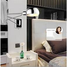 free shipping bedroom modern wall l swing arm wall sconce bedside wall lighting reading