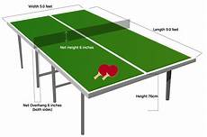 ping pong table dimensions room size requirements ping