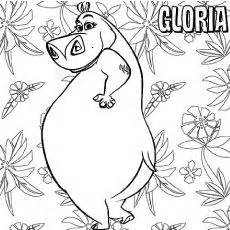 madagascar animals coloring pages 17085 madagascar gloria the hippo holding a tree branch in madagascar coloring page hroch