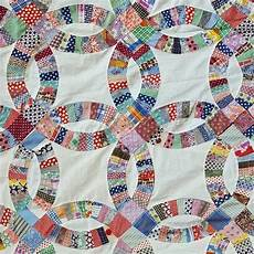 vintage quilt top wedding ring pattern 1920s 1930s cotton fabrics toinette s vintage