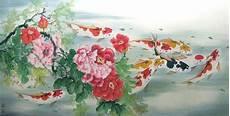 Jual Greats Repro Gambar Lukisan Ikan Koi Hoki Feng Shui