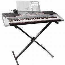 Black Adjustable Height Keyboard Piano Stand Electric