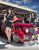Lowriders And Pin Ups At LA Classic Car Show  People