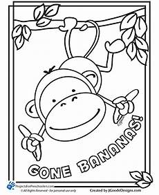 monkeys coloring pages getcoloringpages