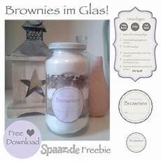 Brownie Backmischung Im Glas Mit Freebie Etiketten