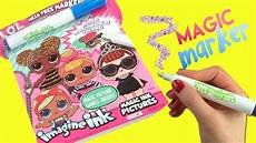 lol surprise imagine ink coloring book with magic marker and dolls toy caboodle youtube