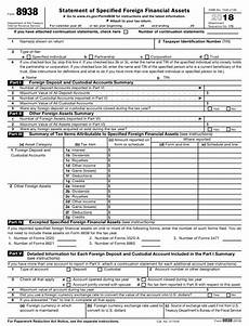 irs form 8938 download fillable pdf or fill online