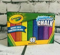 Amazon Com Washable Sidewalk Chalk 48 Assorted Bright Crayola 48 Assorted Bright Color Washable Sidewalk Anti