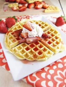 birthday waffles at the kitchen door