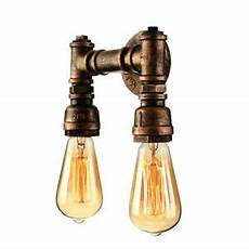 6 vintage industrial style double light bronze barn pipe led wall sconce light ebay