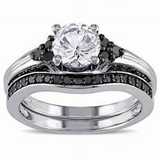 shop miadora sterling silver created white sapphire and 3