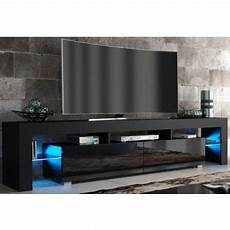 meuble tv spider big 224 led en noir mat avec portes noir