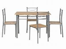 ensemble table rectangulaire 4 chaises de cuisine tutti