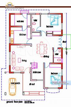 indian house floor plans home plan and elevation 1950 sq ft kerala home design