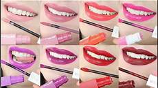 maybelline superstay matte ink lip swatches review