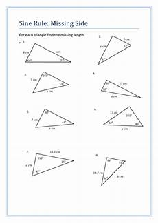 worksheets printable 20281 sine rule questions sheet by holyheadschool teaching resources tes