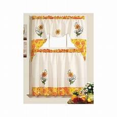 Walmart Kitchen Decor by Rt Designer S Collection Sunflower Garden Kitchen Curtain
