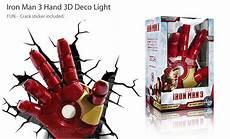 new marvel avangers iron man 3 hand 3d deco wall art night light led nite crack ebay
