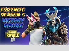 *NEW* FORTNITE SEASON 5 GAMEPLAY VICTORY ROYALE   YouTube