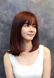 30 versatile bang haircuts for medium length hairs