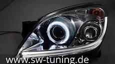sw led eye xenon scheinwerfer opel astra h chrome