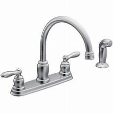 high arc kitchen faucet moen ca87888 chrome caldwell 2 handle high arc kitchen