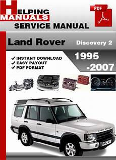 free service manuals online 2007 land rover range rover engine control land rover discovery 2 1995 2007 service repair manual download d